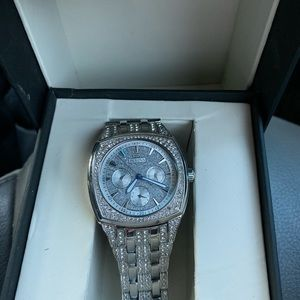 StainlessSteel & Crystal-Accent Bracelet Watch